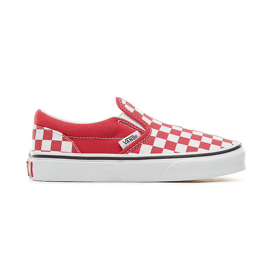 7786878b91b VANS Checkerboard Classic Slip-on Kinderschoenen (rood)   V00ZBURG8 ...