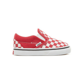 VANS Checkerboard Classic Slip-on Peuterschoenen (rood)