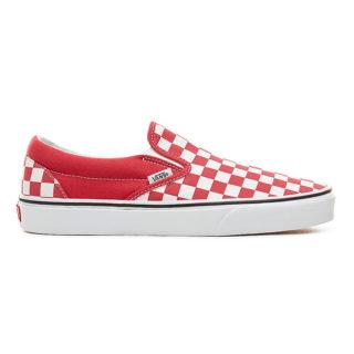 VANS Checkerboard Classic Slip-on Schoenen (rood)