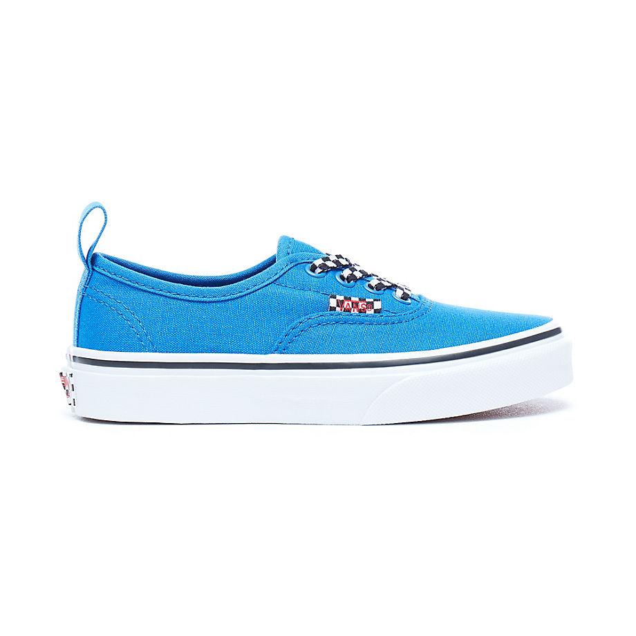 f666593182c VANS Check Lace Authentic Kinderschoenen Met Elastische Veters (blauw)