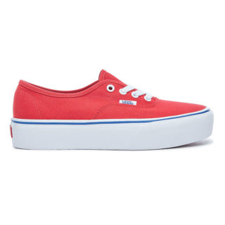 VANS Canvas Authentic Platform 2.0 Schoenen (rood)