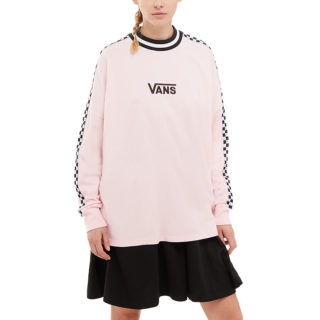 VANS Checkerboard Long Sleeve T-shirt (roze)