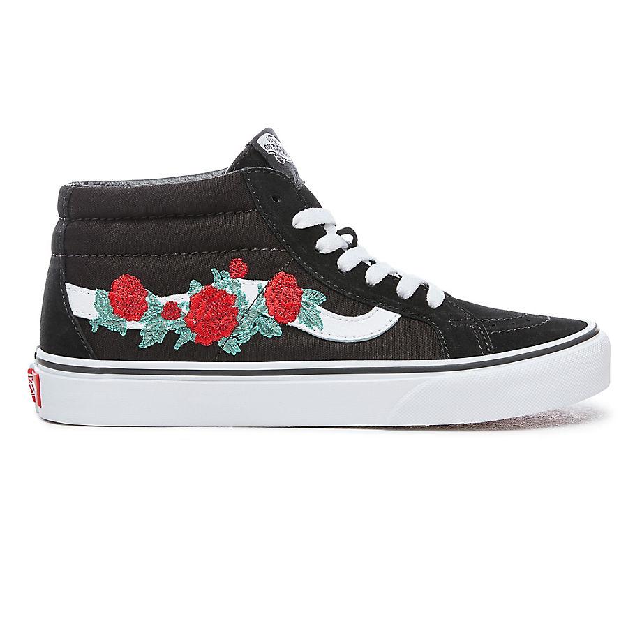 Schoenen Sk8 Vans Va3mv8rzo Mid zwart Rose Thorns Reissue CwwzEqxPOX