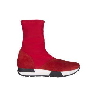 Monshoe sneaker laarsje rood (Rood)