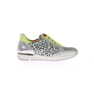 Romagnoli 6740-826 Pantera Bianco Sneaker Panter Wit/Zilver/Geel (Grijs)
