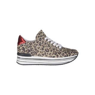 SPM Leanrun runner sneaker leopard (Bruin)