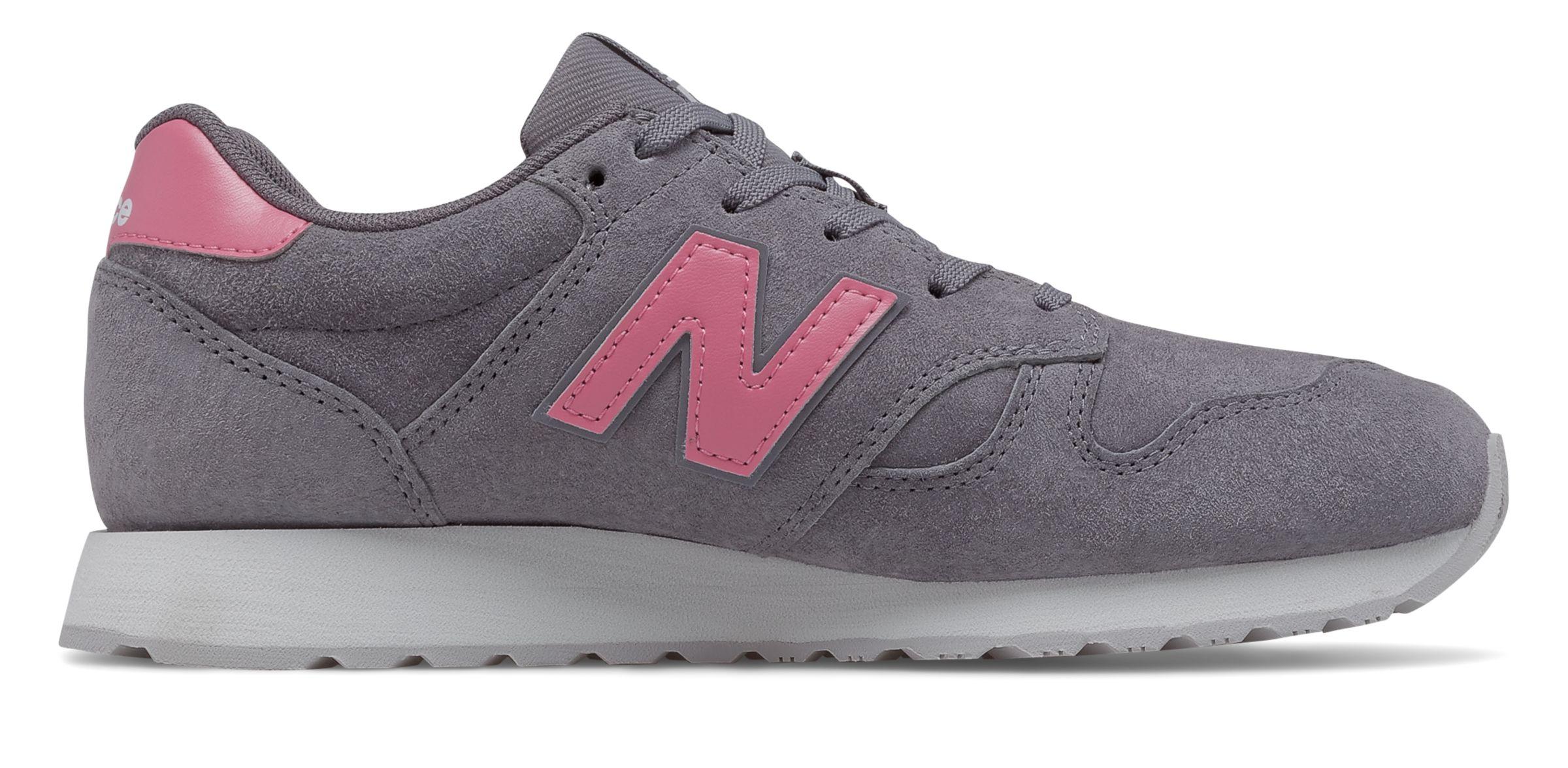 new balance 500 grijs roze