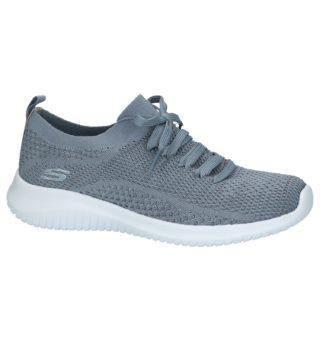 Grijze Lage Sportieve Sneakers Skechers Skech-Knit | SCHOENENTORFS.NL | Gratis verzend en retour