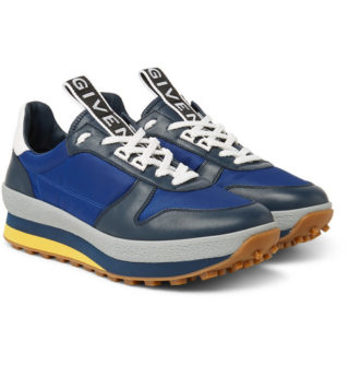 Givenchy Tr3 Leather And Shell Sneakers – Navy