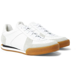 Givenchy Set3 Full-grain Leather And Suede Sneakers – White