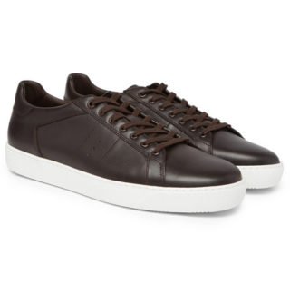 J.M. Weston Leather Sneakers – Dark brown