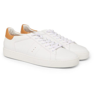 J.M. Weston Leather Sneakers – White