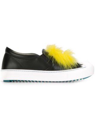 Fendi Bag Bugs slip-on sneakers (zwart)