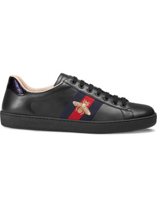 Gucci Ace embroidered low-top sneaker - Black