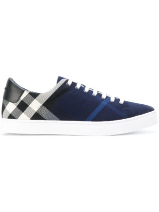 Burberry checked sneakers (blauw)