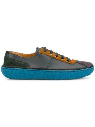 Prada contrast sole sneakers (bruin)