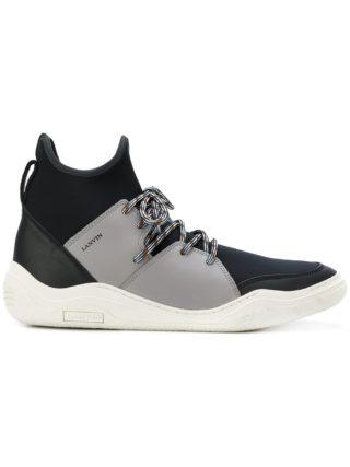 Lanvin hi-top Diving sneakers (zwart)