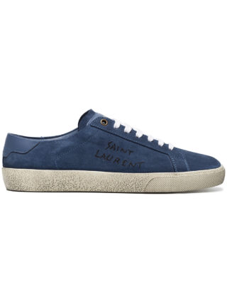 Saint Laurent Blue Court Classic suede sneakers