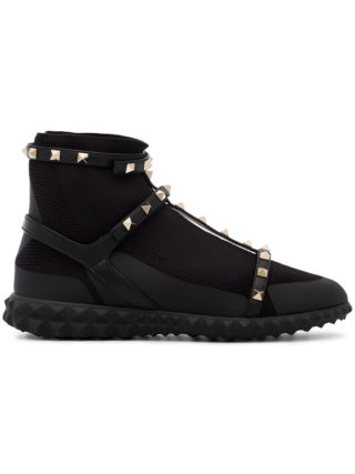Valentino Rockstud Body Tech sock sneakers - Black