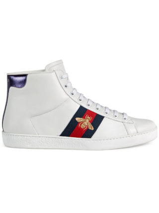Gucci Ace high-top sneaker (wit)