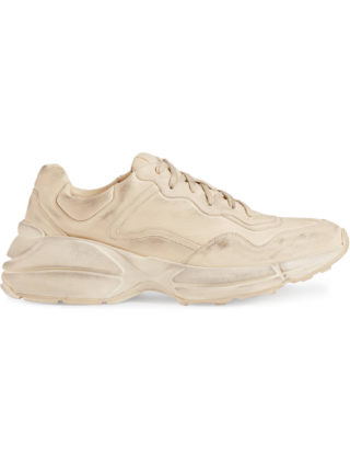 Gucci Rhyton leather sneaker - Nude & Neutrals