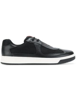 Prada America's Cup low-top sneakers (zwart)