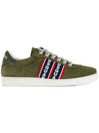 Dsquared2 Barney logo stripe sneakers (groen)