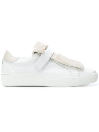Moncler embellished strap sneakers (wit)