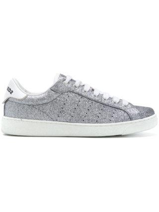 Dsquared2 glitter Santa Monica sneakers (zilver)