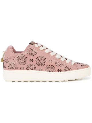 Coach C101 cut-out sneakers (roze/paars)