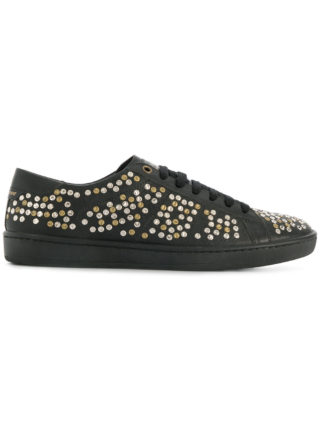 Saint Laurent studded low-top sneakers (zwart)