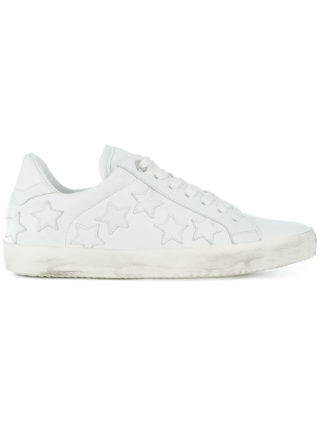 Zadig & Voltaire star patches sneakers (wit)