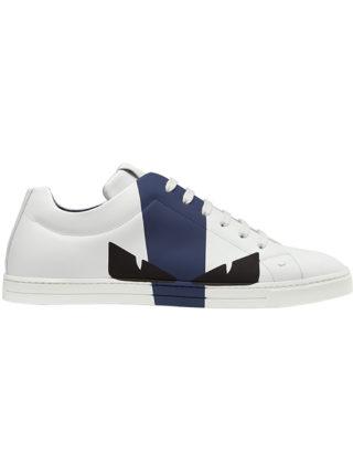 Fendi Bag Bugs colour-block sneakers (wit)