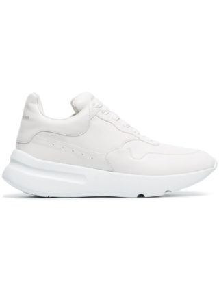 Alexander McQueen optical white Runner oversized leather sneakers
