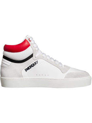 Burberry Leather and Suede High-top Sneakers (wit)