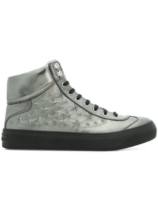 Jimmy Choo Argyle hi-top sneakers (zilver)