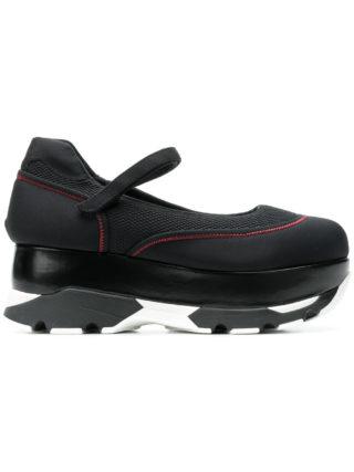 Marni flatform strap sandals (zwart)