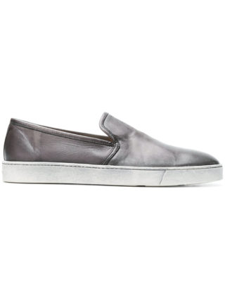Santoni distressed slip-on sneakers (grijs)