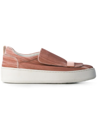 Sergio Rossi loafer skate shoes (roze/paars)