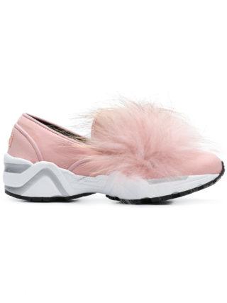 Suecomma Bonnie fur detail sneakers (roze/paars)