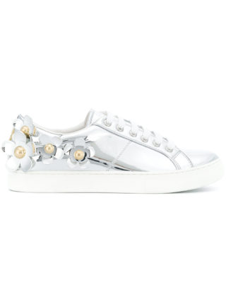 Marc Jacobs daisy Empire sneakers (zilver)