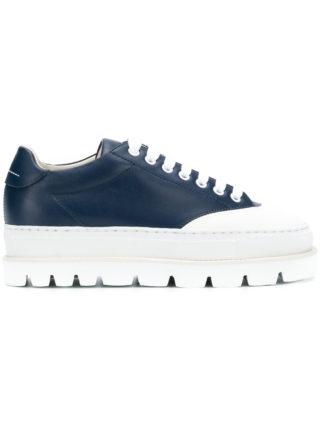 Mm6 Maison Margiela platform sole sneakers (blauw)