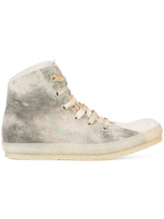 A Diciannoveventitre dye finish hi-top sneakers (wit)
