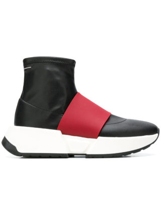 Mm6 Maison Margiela panelled sock sneakers (zwart)