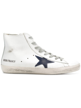 Golden Goose Deluxe Brand distressed Francy high top sneakers - White