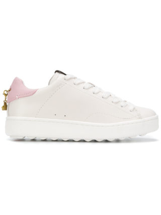 Coach platform lace-up sneakers (wit)