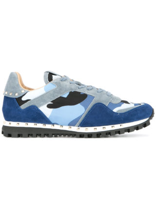 Valentino camouflage Rockrunner sneakers - Blue