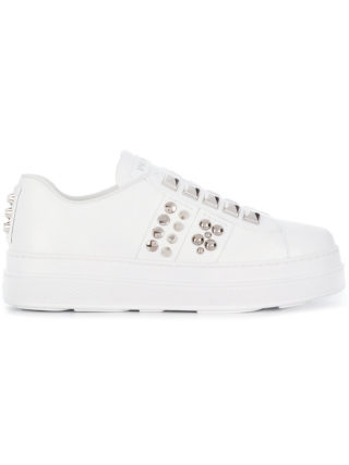 Prada studded slip-on sneakers (wit)