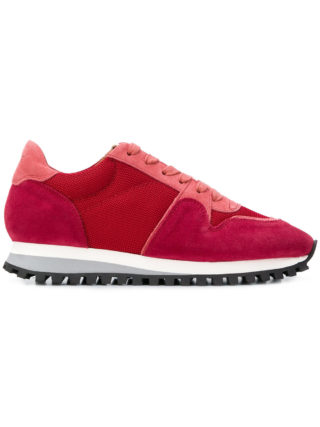 Closed color block sneakers (rood)
