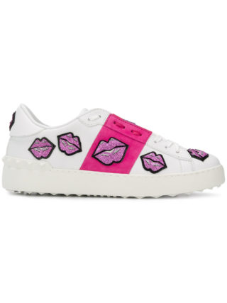 Valentino Open lips sneakers - White
